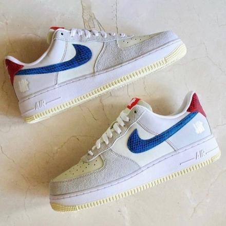 undefeated nike air force 1 low grey blue red 1