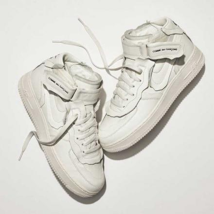 COMME des GARCONS Nike Air Force 1 Mid Exclusive white