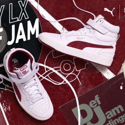 【国内3月7日発売予定】デフ ジャム × プーマ スカイ LX & クライド ホワイト/コードバン