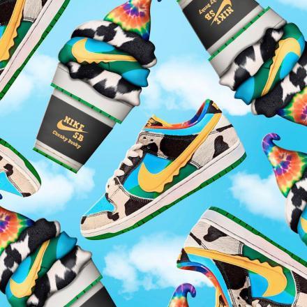 """【国内5月23日/26日発売予定】ベン & ジェリーズ × ナイキ SB ダンク ロー プロ """"チャンキー ダンキー""""(CU3244-100)"""