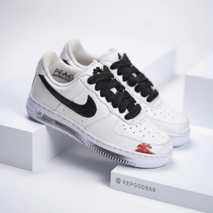 PEACEMINUSONE Nike Air Force 1 Para noise White Black 2020 DD3223 100 02