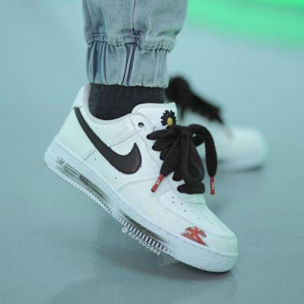 PEACEMINUSONE Nike Air Force 1 Para noise White Black 2020 DD3223 100 09