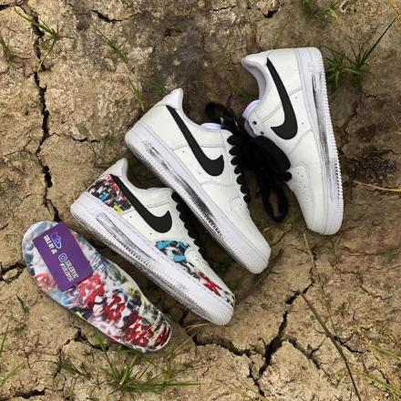 PEACEMINUSONE Nike Air Force 1 Para noise White Black 2020 DD3223 100 1