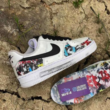PEACEMINUSONE Nike Air Force 1 Para noise White Black 2020 DD3223 100 3