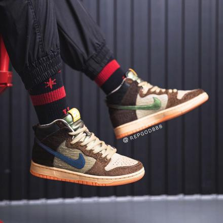 Concepts Nike SB Dunk High Duck On Feet 1