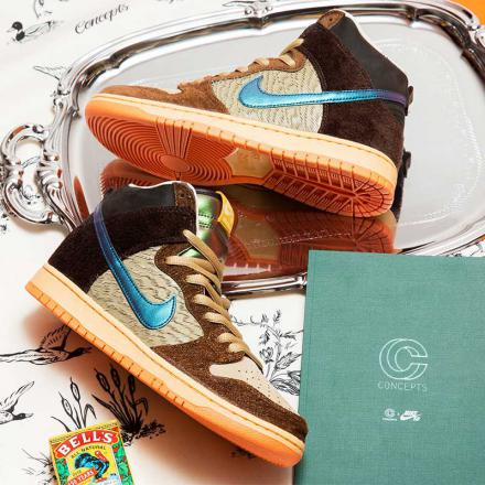 Concepts Nike SB Dunk High pro MALLARD DC6887 200 top