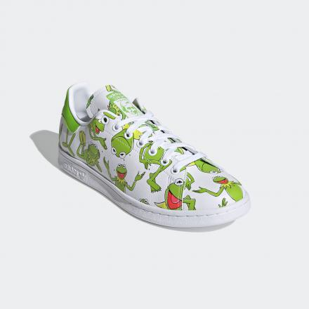 KERMIT THE FROG ADIDAS ORIGINALS STAN SMITH FZ2707 standard front lateral top view