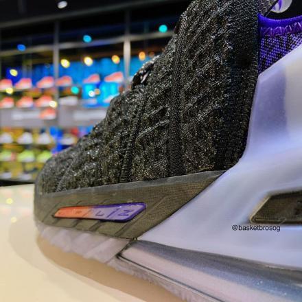 【国内1月8日発売予定】キリアン・ムバッペ  × ナイキ レブロン 18 NRG ブラック/ブライト クリムゾン-フィアス パープル(DB8148-001)