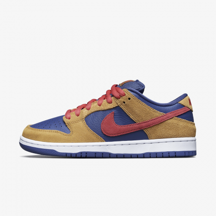 Nike SB Dunk Low Wheat Light Fusion Red Dark Purple BQ6817 700 Release Date 1