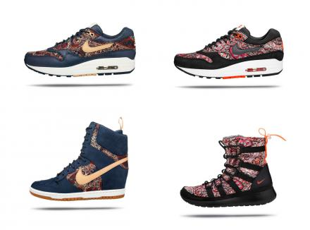 LIBERTY LONDON NIKE 2013 FALL WINTER SNEAKER COLLECTION