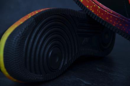 【国内12月23日発売予定】 ナイキ エアフォース1 '07 ブラック/ファイアー(488298-078)