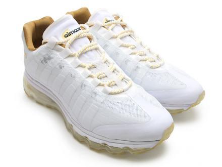 ナイキ エア マックス95+ BB ホワイト/メタリックゴールド アトモス別注(511307-170)