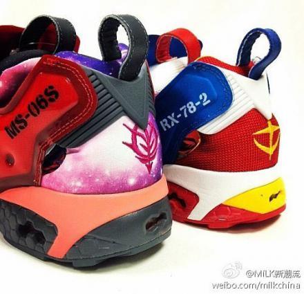 【リーク】 機動戦士ガンダム × リーボック インスタ ポンプ フューリー ガンダム & シャア専用ザク