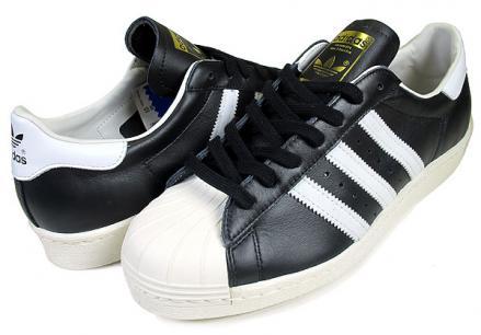 アディダス スーパースター 80'S ブラック/ホワイト/チョーク2