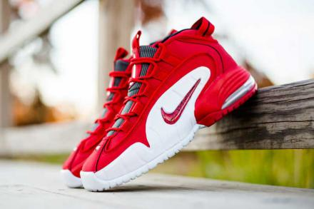 NIKE AIR MAX PENNY UNIVERSITY RED WHITE BLACK