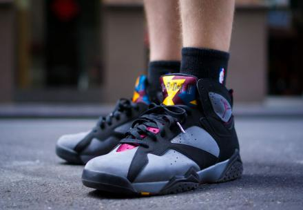 NIKE AIR JORDAN VII BLACK BORDEAUX LITE GRAPHITE MIDNIGHT FOG 1