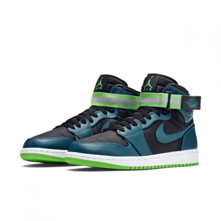 NIKE AIR JORDAN 1 HIGH STRAP TEAL GREEN SPARK-BLACK-WHITE 8f94f6fb21c9
