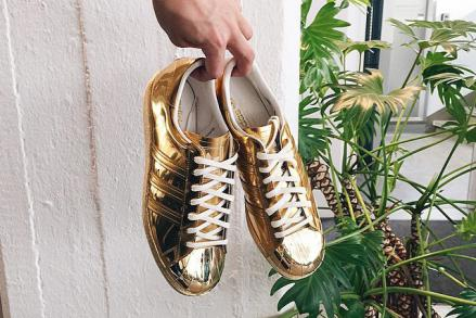 ADIDAS ORIGINALS SUPERSTAR LIQUID METAL GOLD
