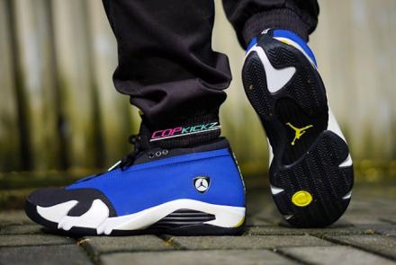 NIKE AIR JORDAN 14 LOW VARSITY ROYAL BLACK VARSITY MAIZE WHITE