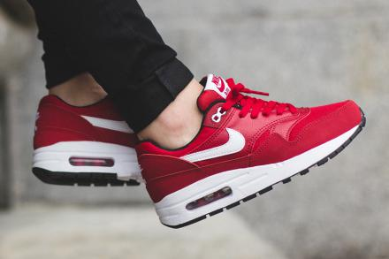 NIKE AIR MAX 1 GS GYM RED WHITE BLACK