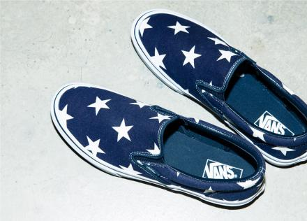 Sophnet vans slip on indigo star