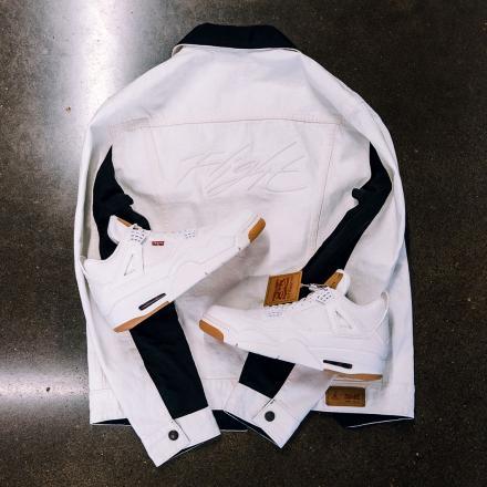 【国内7月13日再販予定】 リーバイス × ナイキ エアジョーダン4 レトロ ホワイト & ブラック