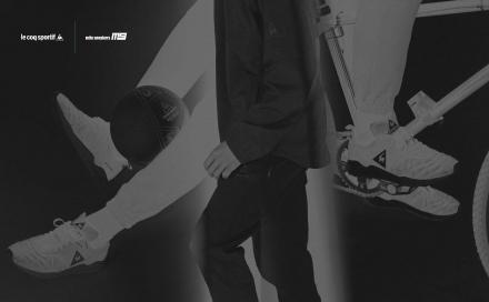 【国内6月16日発売予定】 ミタスニーカーズ × ルコックスポルティフ プリュームエックスラン ブラック/ホワイト/グリーン