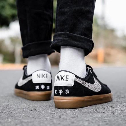 WACKO MARIA NIKE SB BLAZER LOW BLACK WHITE 5