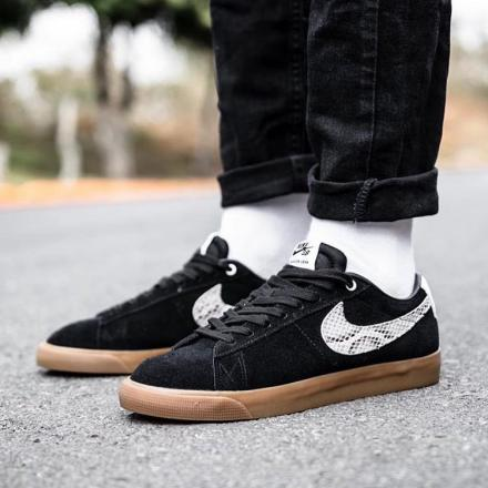 WACKO MARIA NIKE SB BLAZER LOW BLACK WHITE